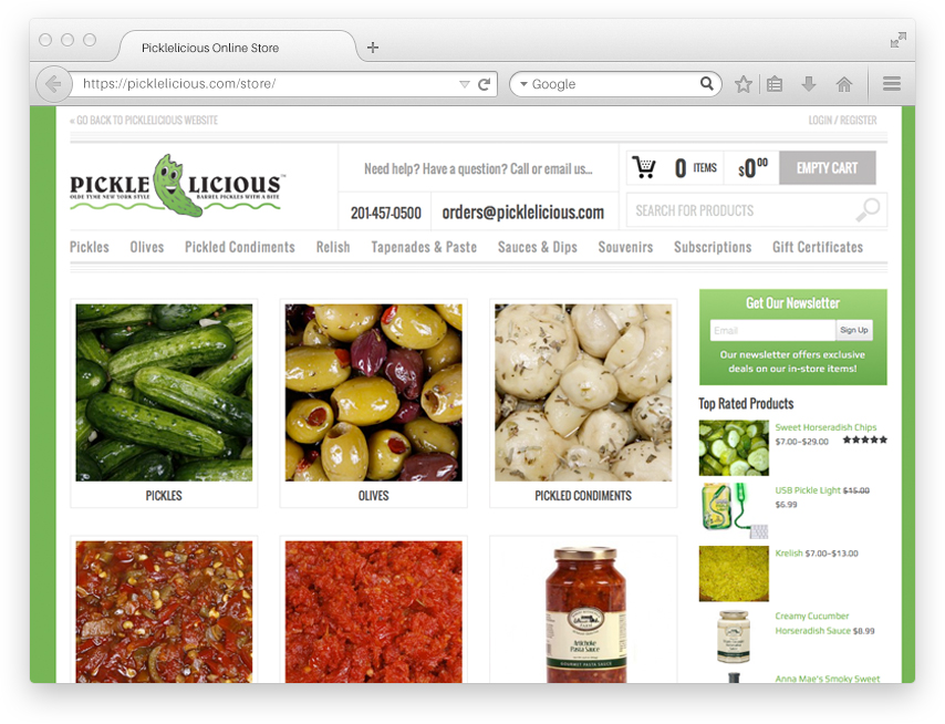 Picklelicious Online Store